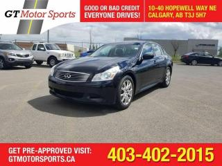 Used 2009 Infiniti G37 XS I LEATHER I I $0 DOWN-EVERYONE APPROVED for sale in Calgary, AB