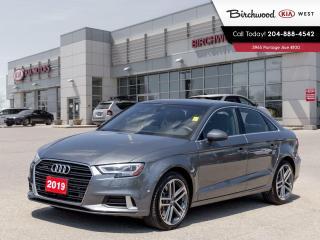 Used 2019 Audi A3 Sedan Technik AWD | Leather | Sunroof | Navigation for sale in Winnipeg, MB