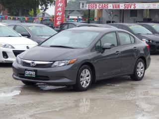 Used 2012 Honda Civic AUTOMATIC,CERTIFIED,ONE-OWNER,POWER OPTIONS,LOADED for sale in Mississauga, ON