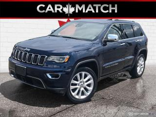 Used 2017 Jeep Grand Cherokee LIMITED / NAV / ROOF / NO ACCIDENTS for sale in Cambridge, ON