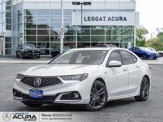 Used 2018 Acura TLX Tech A-Spec A-SPEC SUNROOF NAVI LANE KEEP REMOTE START ADAPTIVE CRUISE for sale in Burlington, ON