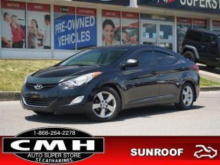 Used 2012 Hyundai Elantra GLS  BLUETOOTH ROOF HTD-SEATS 16-AL for sale in St. Catharines, ON