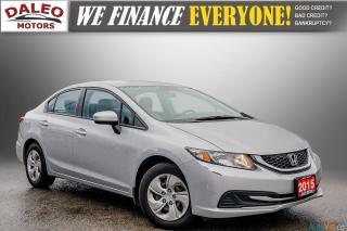 Used 2015 Honda Civic LX / BUCKET SEATS / HEATED SEATS / BACKUP CAM / for sale in Hamilton, ON