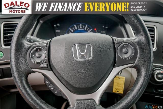 2015 Honda Civic LX / BUCKET SEATS / HEATED SEATS / BACKUP CAM / Photo18
