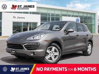 Used 2013 Porsche Cayenne Local Manitoba Vehicle, Power Sunroof, Backup Camera With Navigation for sale in Winnipeg, MB