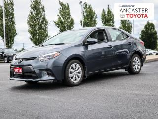 Used 2016 Toyota Corolla LE   BACKUP CAM   KEYLESS ENTRY for sale in Ancaster, ON