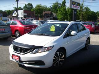 Used 2013 Honda Civic EX,BLUETOOTH,BACKUP CAMERA,SUNROOF,CERTIFIED,AUX for sale in Kitchener, ON