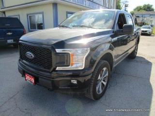 Used 2019 Ford F-150 LIKE NEW STX EDITION 5 PASSENGER 2.7L - V6.. 4X4.. CREW-CAB.. SHORTY.. TOW SUPPORT.. LEATHER.. BACK-UP CAMERA.. BLUETOOTH SYSTEM.. SYNC TECHNOLOGY.. for sale in Bradford, ON