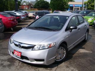 Used 2011 Honda Civic DX-G,AUTO,A/C,CERTIFIED,LOW KM'S,KEY LESS, ALLOYS for sale in Kitchener, ON