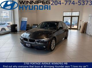 Used 2016 BMW 3 Series 320I XDRIVE - Remote vehicle starter, Bluetooth, Heated steering wheel for sale in Winnipeg, MB