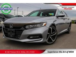 Used 2020 Honda Accord Sport   CVT   Power Moonroof for sale in Whitby, ON