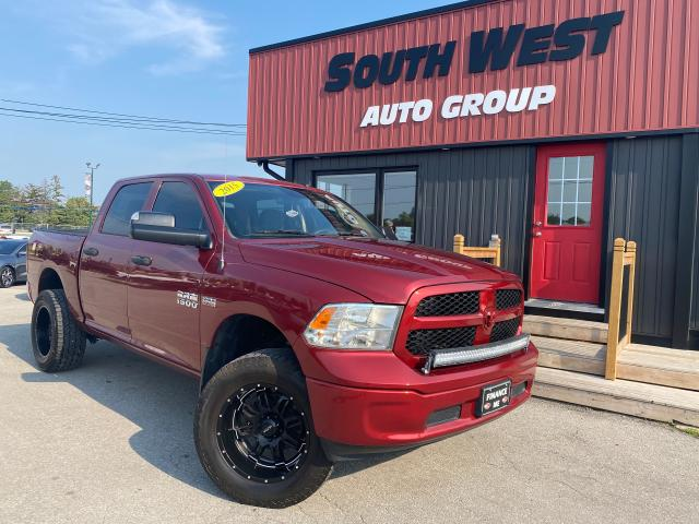 2015 RAM 1500 4X4|CrewCab|Lifted|Aftmrkt Rims/Tires|LED LightBar