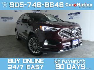 Used 2020 Ford Edge TITANIUM | AWD | ELITE PKG | LEATHER | ROOF | NAV for sale in Brantford, ON