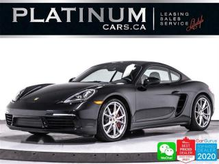 Used 2018 Porsche 718 Cayman S, 350HP, PDK, PREM PLUS, NAV, CAM, PASM, HEATED for sale in Toronto, ON
