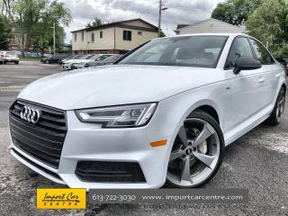 Used 2018 Audi A4 2.0T Technik S-LINE  LEATHER  BLIS  ROOF  NAV  B&O for sale in Ottawa, ON