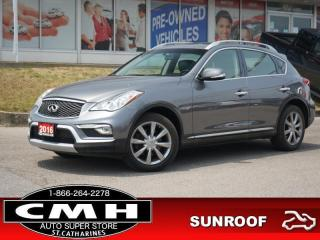 Used 2016 Infiniti QX50 Base  CAM ROOF LEATH HTD-SEATS 18-AL for sale in St. Catharines, ON