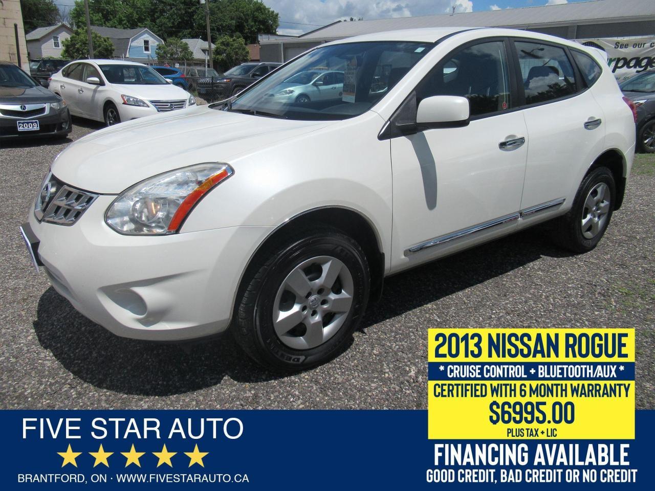 2013 Nissan Rogue S - Certified w/ 6 Month Warranty