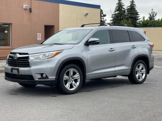 Used 2015 Toyota Highlander Hybrid Limited Navigation  Panoramic Sunroof  Camera for sale in North York, ON