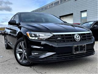 Used 2019 Volkswagen Jetta R-LINE MANUAL|LEATHER |REAR VIEW|AMBIENT LIGHTS|ALLOYS! for sale in Brampton, ON