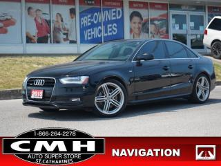 Used 2015 Audi A4 2.0T quattro Progressiv Plus  NAV ROOF LEATH 18-AL for sale in St. Catharines, ON