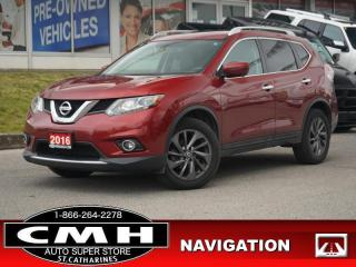 Used 2016 Nissan Rogue SL  NAV CAM ROOF LEATH HTD-SEATS 18-AL for sale in St. Catharines, ON