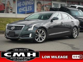 Used 2013 Cadillac ATS Premium  NAV CAM ROOF LEATH HTD-S/W 18-AL for sale in St. Catharines, ON