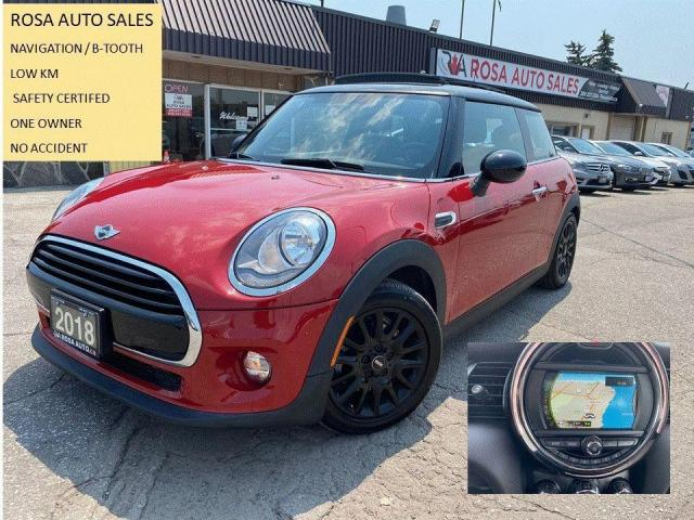2018 MINI Cooper Cooper Navigation 1owner no accident LOW KM B-TOOT