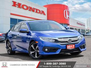 Used 2017 Honda Civic Touring GPS NAVIGATION | HONDA SENSING TECHNOLOGIES | POWER SUNROOF for sale in Cambridge, ON