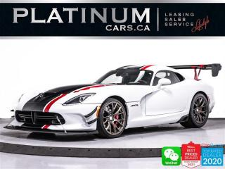 Used 2016 Dodge Viper ACR V10 645HP, MANUAL, EXTREME AERO PACK, NAV, BT for sale in Toronto, ON
