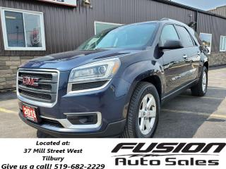Used 2015 GMC Acadia SLE-AWD-V6-7 PASS QUAD SEATING-HEATED SEATS for sale in Tilbury, ON