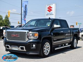 Used 2015 GMC Sierra 1500 Denali Crew Cab 4x4 ~Nav ~Cam ~Leather ~Moonroof for sale in Barrie, ON