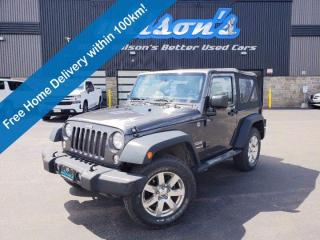 Used 2014 Jeep Wrangler Sport - 4WD, 6 Speed Manual, AM/FM Radio, Alloys and More! for sale in Guelph, ON