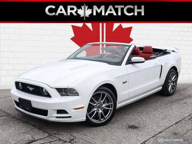 2014 Ford Mustang GT / CONVERTIBLE / RED LEATHER / 53,929 KM