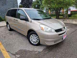 Used 2005 Toyota Sienna CE,LOW KILOMETERS, NO ACCIDENT  CERTIFIED for sale in Mississauga, ON