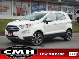Used 2018 Ford EcoSport Titanium AWD  NAV CAM ROOF LEATH 17-AL for sale in St. Catharines, ON