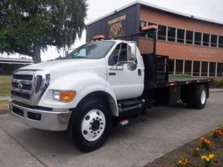 Used 2011 Ford F-650 Flat Deck 18 foot 3 seater 2WD Dually Diesel for sale in Burnaby, BC
