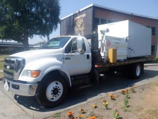 Used 2008 Ford F-650 Flat Deck 24 foot Regular Cab 2WD Dually Diesel for sale in Burnaby, BC