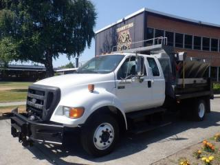 Used 2007 Ford F-650 Dump Truck SuperCab 2WD Dually Diesel with Spreader and plow for sale in Burnaby, BC