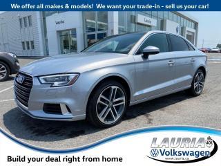 Used 2018 Audi A3 Sedan Progressiv Quattro - LOW KMS for sale in PORT HOPE, ON