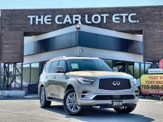 Used 2019 Infiniti QX80 LUXE 8 Passenger 4X4!!! 8 SEATER!! NAVIGATION!! LEATHER!! SUNROOF!!! HEATED SEATS! BLUETOOTH!!! BACK-UP CAM!! for sale in Sudbury, ON