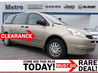 Used 2004 Toyota Sienna CE 7 Passenger AS-IS for sale in Ottawa, ON