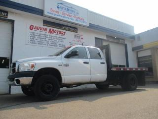 Used 2007 Dodge Ram 3500 HD Chassis SLT Dually Flat Deck for sale in Swift Current, SK