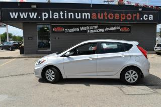 Used 2017 Hyundai Accent GL LOW KM'S!! BLUETOOTH!! 5 SPEED MANUAL, GREAT ON GAS! for sale in Saskatoon, SK