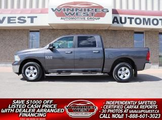 Used 2016 Dodge Ram 1500 SLT+ CREW 305HP 4X4, BIG SCREEN, HTD SEATS, CLEAN! for sale in Headingley, MB
