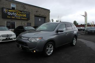 Used 2014 Mitsubishi Outlander 4WD/XLS/7 PASS/BACKUP CAMERA/SUNROOF/LEATHER INTERIOR for sale in Newmarket, ON