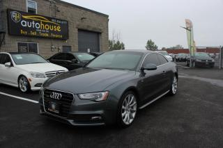 Used 2014 Audi A5 AWD/COUPE/S-LINE/PROGRESSIVE/SUNROOF/ACCIDENT FREE for sale in Newmarket, ON