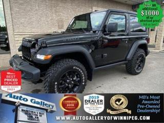 Used 2020 Jeep Wrangler Willys* 4x4/SXM/Heated Seats/REMOTE STARTER for sale in Winnipeg, MB