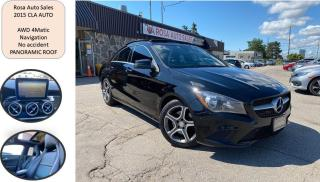 Used 2015 Mercedes-Benz CLA-Class AUTO 4dr Sdn CLA 250 4MATIC NAVIGATION SAFETY NO A for sale in Oakville, ON