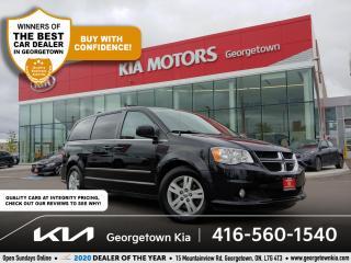 Used 2013 Dodge Grand Caravan CREW PLUS | LTHR | NAV | SUNROOF | HTD SEATS | B/T for sale in Georgetown, ON
