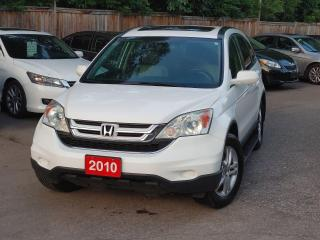 Used 2010 Honda CR-V EX-L~LEATHER SEATS~LOW KMS~ SUNROOF for sale in Mississauga, ON